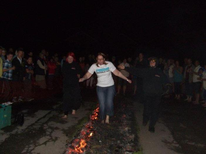 I was the first to take to the coals to celebrate my 1 year diagnosis anniversary! The firewalk 2011