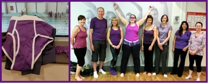 Earlier this year I helped support MS-UK with their 'Purple pants' campaign. I managed to get everyone in the Pilates class I attend to wear purple, raising MS awareness!